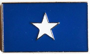 Confederate Bonnie Blue Flag Badge